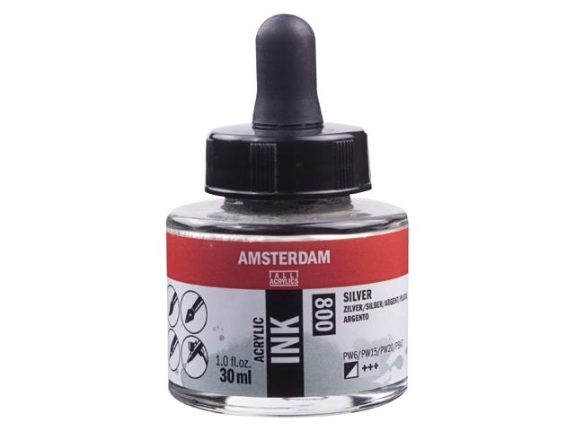 Acryl inkt Zilver 800 - Amsterdam acrylic