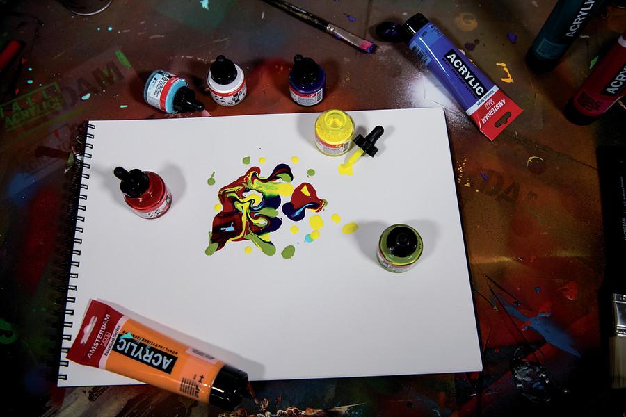Acrylic artpad A4vel200 gram/m2 Amsterdam