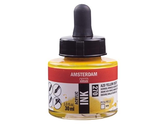 Acryl inkt Azogeel donker 270 - Amsterdam acrylic
