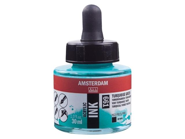 Acryl inkt turquoise groen 661 - Amsterdam acrylic