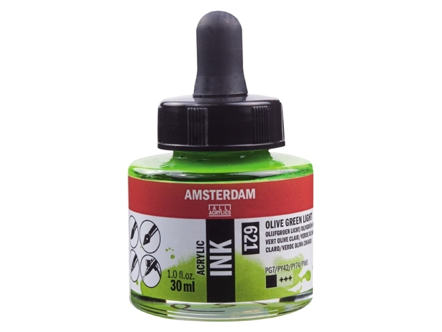 Acryl inkt Olijfgroen licht 621 - Amsterdam acrylic