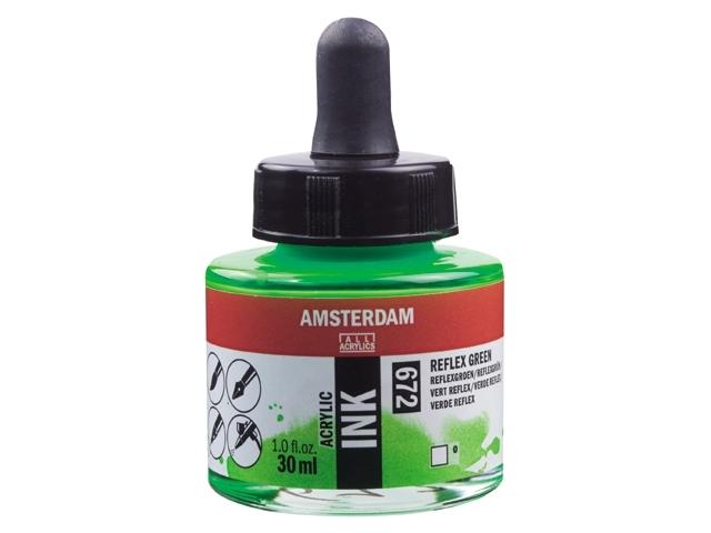 Acryl inkt Reflexgroen 672 - Amsterdam acrylic