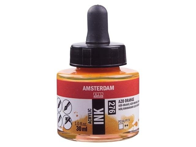 Acryl inkt Azo oranje 276 - Amsterdam acrylic