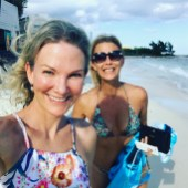 Angela Spang with her sister showing us how Work Life Balance is done