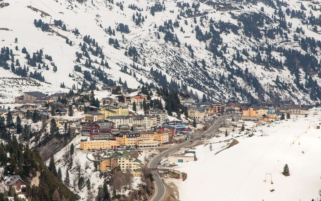 a view of the Austria skiing village of Obertauern