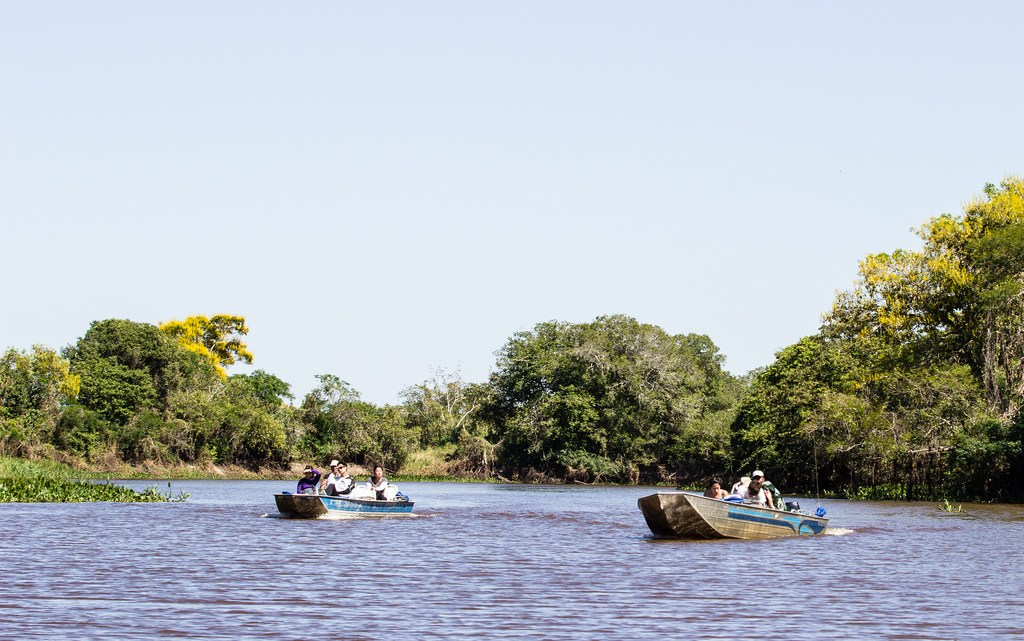 boats in the pantanal