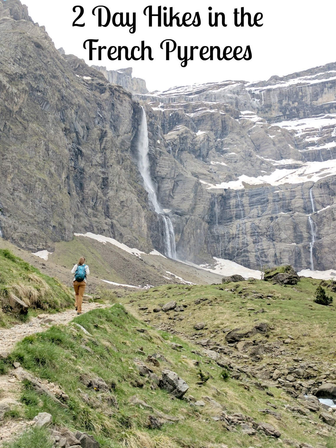 Pinterest image for 2 Day Hikes in the French Pyrenees