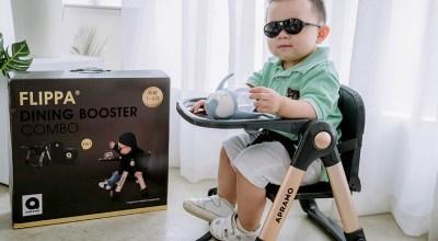 【育兒】新色!每家都必備一張超輕盈萬用的Apramo Flippa可攜式折疊餐椅:尊爵魔法金
