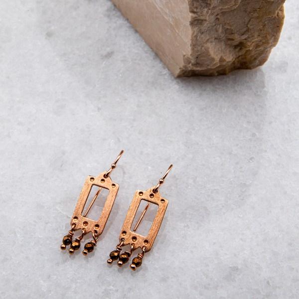 χειροποιητα κοσμηματα, σκουλαρικια, azteco-grigio-rose-2-angeldevil