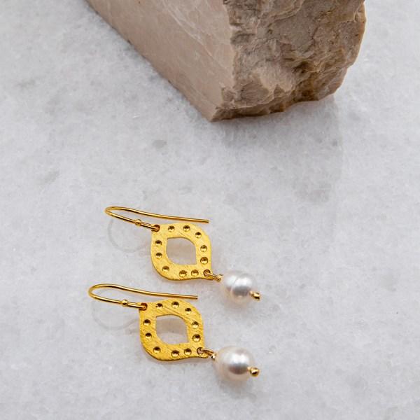 χειροποιητα κοσμηματα, σκουλαρικια, azteco-rosa-gold-2-angeldevil