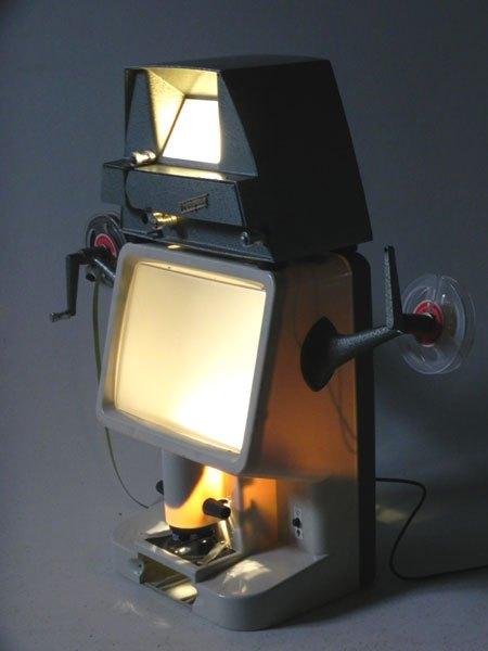 Aterquin. Assemblage d'appareils de visionnage lumineux.