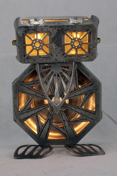 Fontalu. Oiseau, sculpture par assemblage d'aluminium.