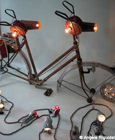 Lampes thème  vélo d'Angèle Riguidel