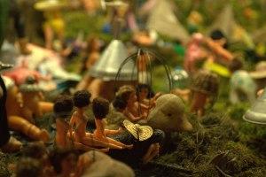 le jardin des plastiques, installation d'objets