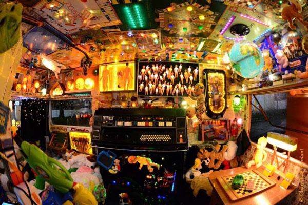 univers de jeux lumineux dans la Caravane GAM'IN