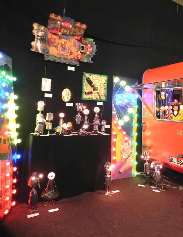installation lumineuse, festif, forain. Art et Déchirure 2016