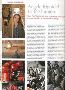 article de presse Marie claire idée: Angèle Riguidel, la fée lumière