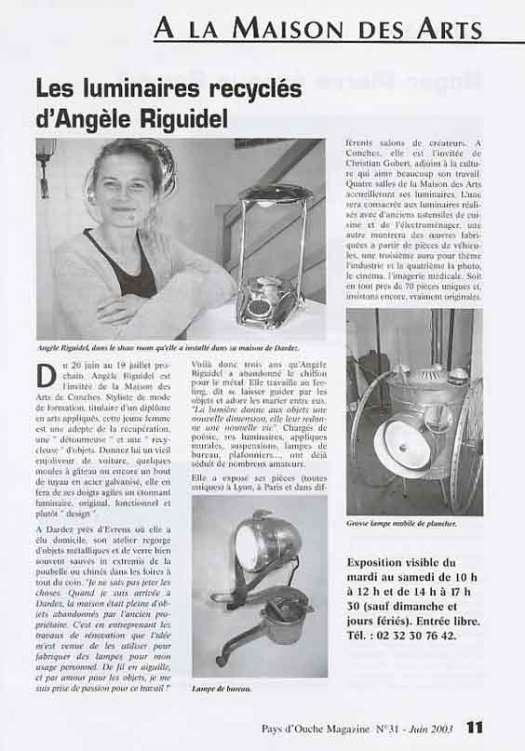 article magazine Pays d'Ouche 2003