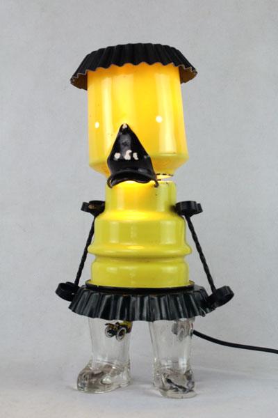 lampe canard jaune et noire