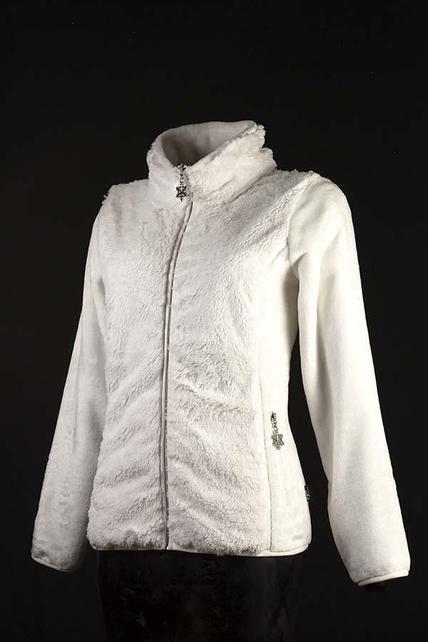 veste polaire femme linz blanc P