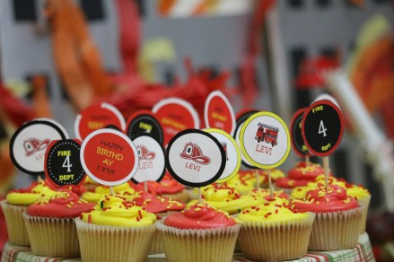 Fireman theme cupcakes