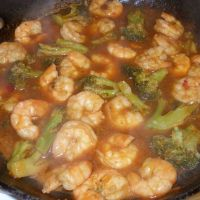 sweet and sour shrimp with broccoli