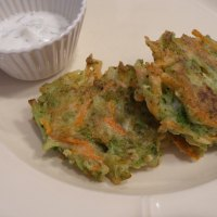 broccoli and carrot fritters