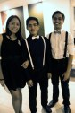 Tin with Pat and Peter and their matching B&W bowties