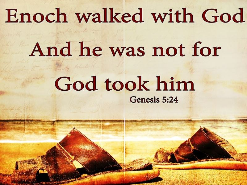 Genesis 5-24 Enoch Walked With God And Was Not For God Took Him
