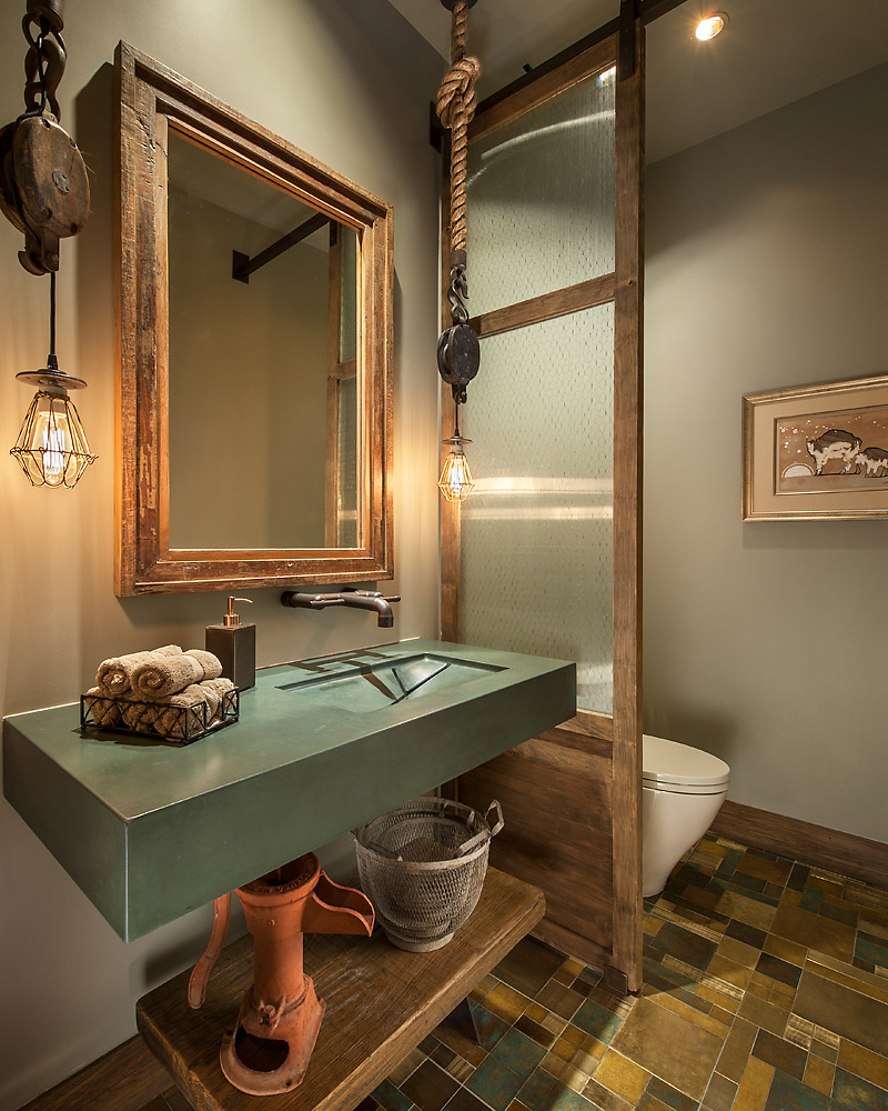 Rustic Revelation - Powder Room - Angelica Henry Design