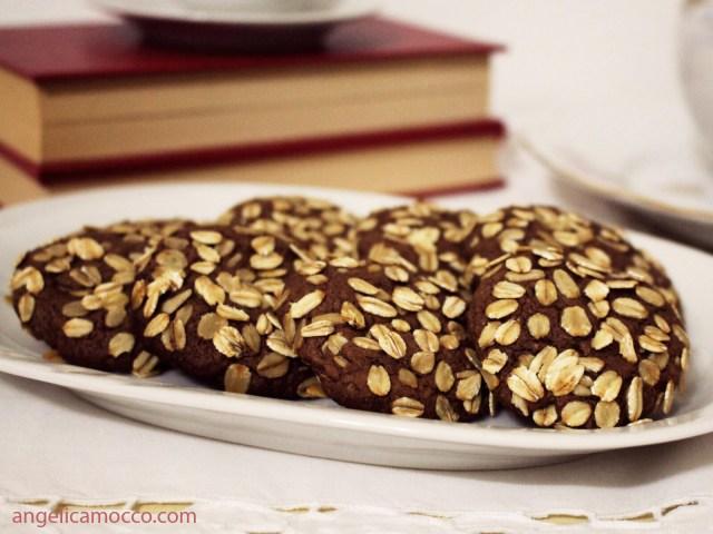 biscotti al cioccolato e avena senza burro e latte
