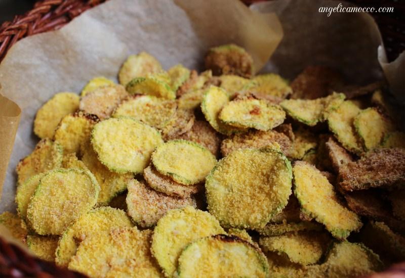 chips di zucchine light al forno