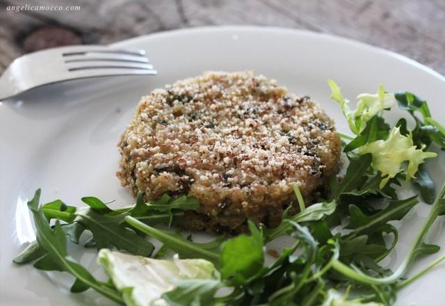 burger di quinoa e asparagi vegan e senza glutine