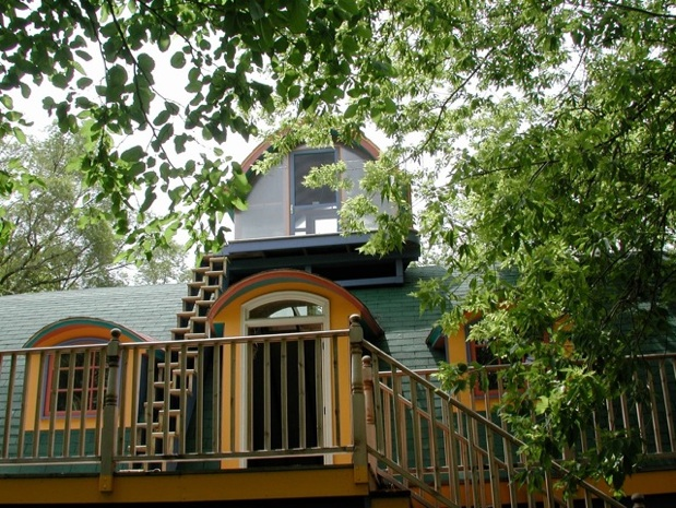 8) 2010, exterior upper Corn Crib