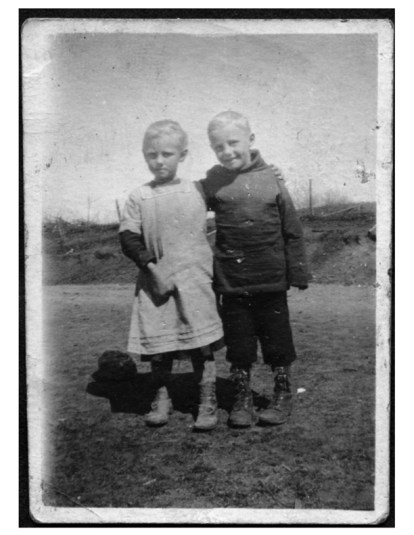 My mom Anna and her twin brother Alfin, early 1900's. (They grew up just down the road from Angelic Organics.)