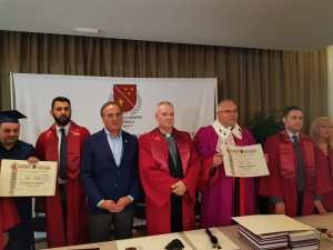 Angelicum Professor honored with a Diploma in Osteopathy (honoris