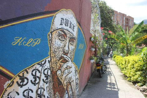 """Murdered hip hop artist """"El Duke"""" is memorialized with a mural in Comuna 13."""