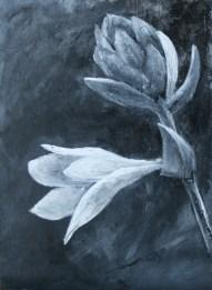 """Hosta Flower"" 5x7 Acrylic on Panel"