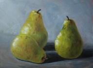 """3 Pears"" 9x12 Acrylic on Panel"