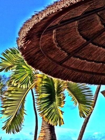 Straw umbrella in Hawaii