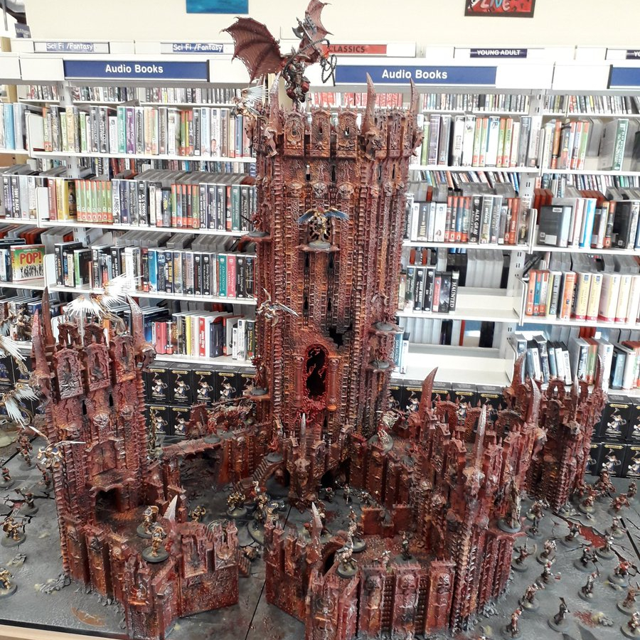 Warhammer set-up by Games Workshop