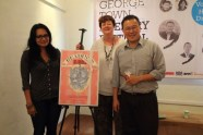 Bernice Chauly and Sharon Bakar, the editors of 'Readings from Readings 2', launches the anthology with the help of Tan Twan Eng at the George Town Literary Festival on November 25th, 2012.