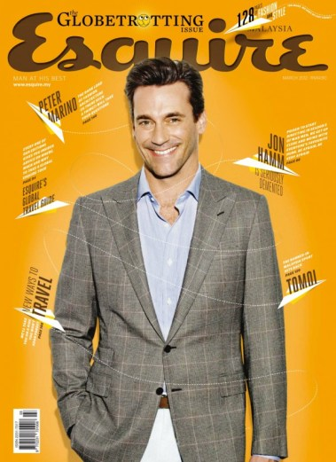 Front cover for the Esquire March 2012 issuee. My story Off the Rails is in here.