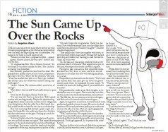 Page in The Selangor Times showing the full story of The Sun Came Up Over the Rocks.