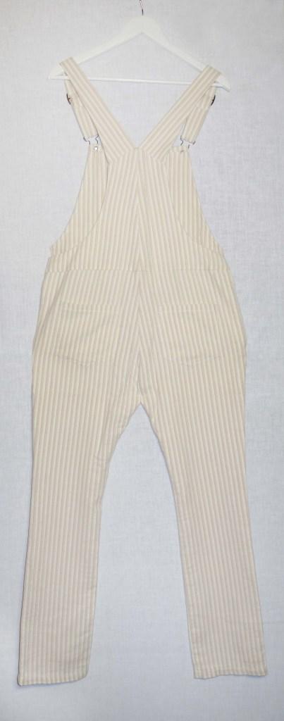 Salopette jambes longues en coton rayé dos