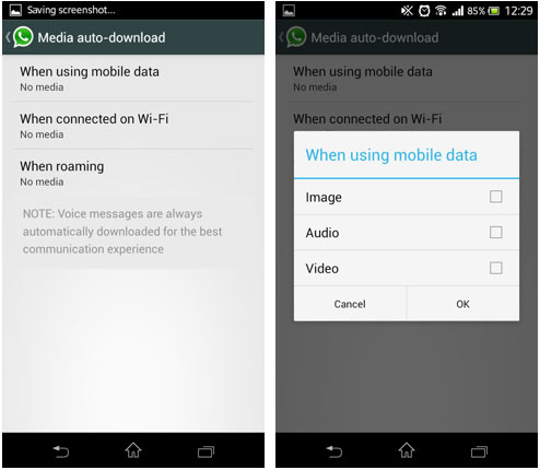 HOW TO STOP WHATSAPP MEDIA FILES FORM AUTO DOWNLOADING
