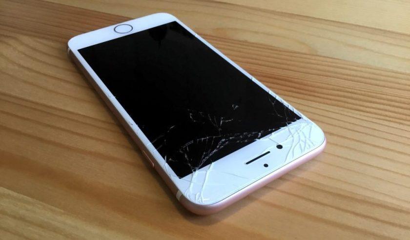 broken iphone7 rose gold