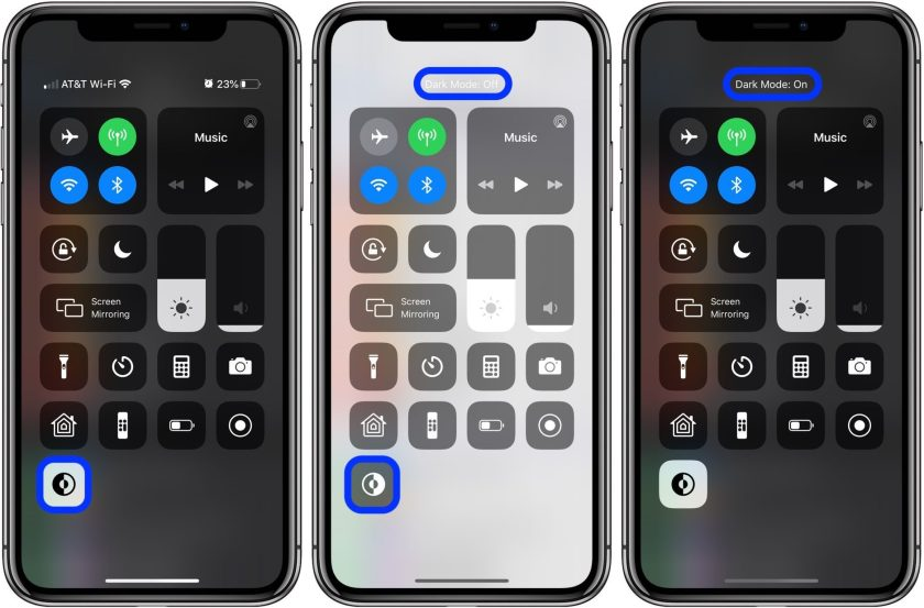 how-to-enable-dark-mode-on-instagram-iphone-control-center