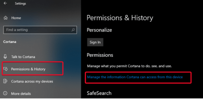 how-to-delete-cortana-recordings-permission-history