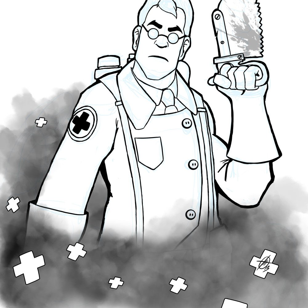 Fanart - Team Fortress 2 Medic